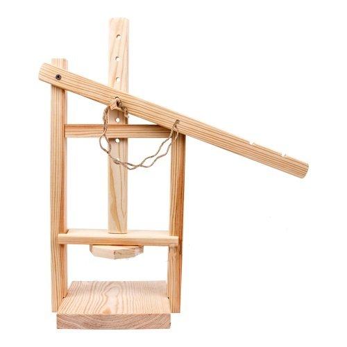 MultiDepot KÄSEPRESSE zur KÄSEHERSTELLUNG Gouda Rezept KÄSEREI mit HEBEL aus Holz für ZUHAUSE 411350