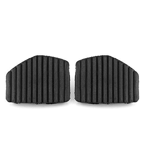 Qiilu 2 piezas cubierta de goma del pedal de freno del