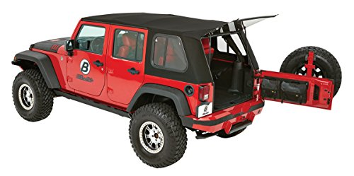 Bestop 54853-17 Trektop Pro Hybrid Soft Top w/ Tinted Sliding Side Panels for 2007-2018...