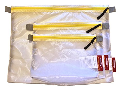 mmyTM Travel Packing Sac, 3 Piece Set, Ultra Light Translucent Ripstop SilNylon