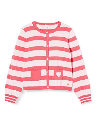 ESPRIT KIDS Mädchen RQ1802301 Sweater CARDIGA Sweatshirt, Rosa (Dark PINK 326), (Herstellergröße:116+)