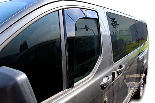 J&J AUTOMOTIVE Windabweiser Regenabweiser für Transit Custom ab 2012 2tlg HEKO dunkel