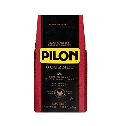Pilon Gourmet Espresso Whole Bean, 16-Ounce Bags (Pack of 2)