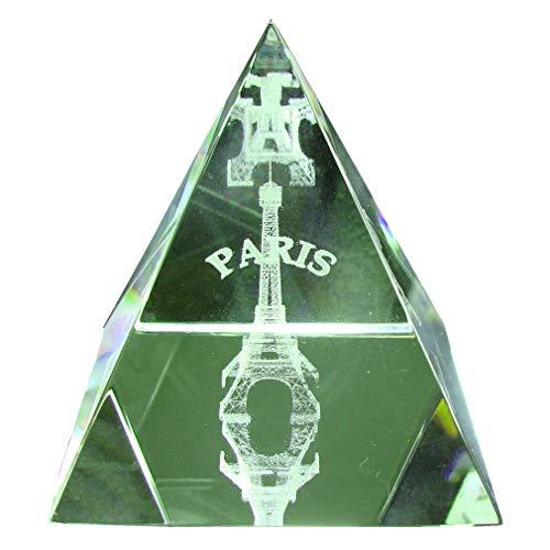 Souvenirs de France - Pyramide Tour Eiffel - Transparent (5 x 5 x 5 cm)