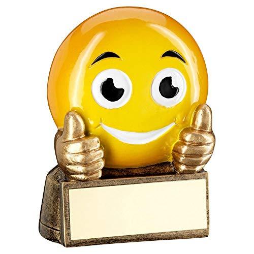 Lapal Dimension Trofeo de Figura de Emoji de Thumbs Up BRZ/Yellow de 2.75 Pulgadas