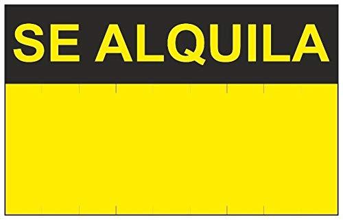 MovilCom® - Señal SE ALQUILA PVC 0,4mm AMARILLA 450X700mm Cartel inmobiliario (ref.RD51401)