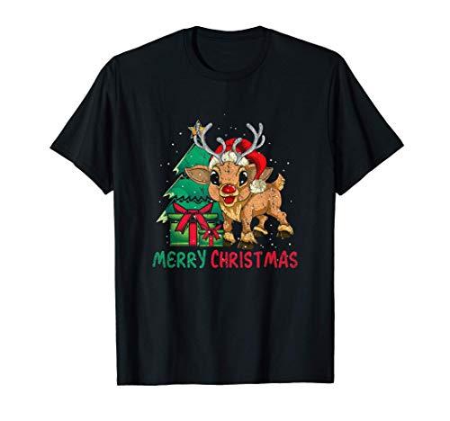 Sapin De Noël Pyjamas Pour Les Enfants Cadeau Renne T-Shirt