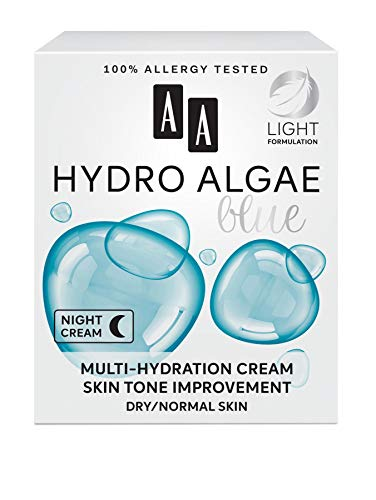 AA Hydro Algae Blue Multi-hydration cream, skin tone improvement, dry/normal skin, 50 ml