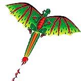 Perfeclan Cometa de Dinosaurio en 3D de una línea con Accesorios de Cuerda para Adultos y niños Cometa fácil de Volar para Principiantes Actividades al Aire