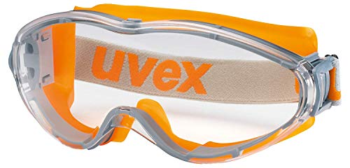 Uvex Ultrasonic Supravision Excellence Schutzbrille - Transparent/Grau-Orange