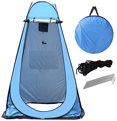 G4RCE Portable Instant POP Up Tent Camping Toilet Shower Changing Single Room Privacy Travel Tent With Bag (Blue)