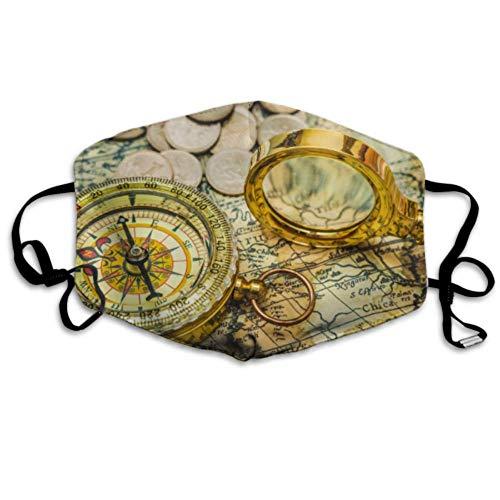 Compess Lupe Gold Farbe auf Mundabdeckung Staubschutz Jugend Staubschutz Gesicht Abdeckungen