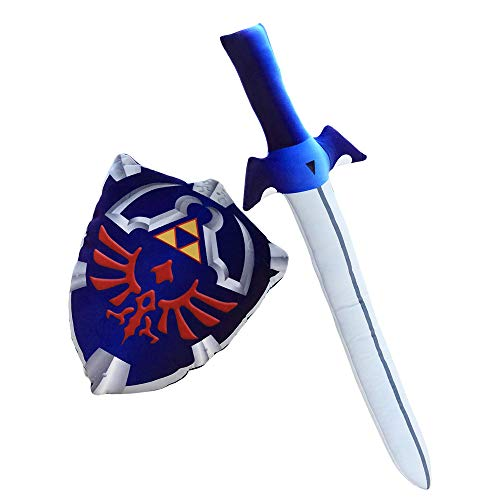 Product Image of the Nooer Plush Pillow Legend of Zelda Master Sword Hylian Shield Toy Children...