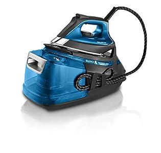 Rowenta DG9222F0 Silence Steam Pro - Centro de planchado, autonomía ilimitada de 7,5 bares, golpe de vapor 450 g/min, vapor continuo de 140 g/min, suela Microsteam Laser 400, función Eco