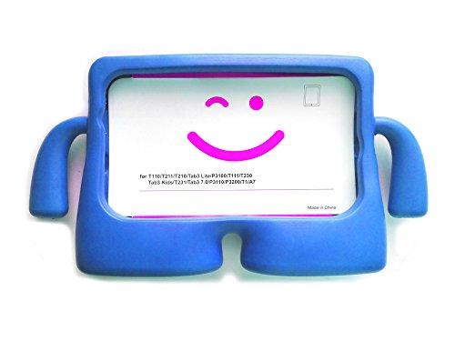 Vendopolis Funda para Tablet Samsung Galaxy 7' para NIÑOS Goma Compatible Solo con T110 T230 T111 Goma EVA (Azul)