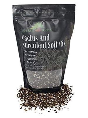Succulent & Cactus Soil Mix - Premium Pre-Mixed Fast Draining Blend