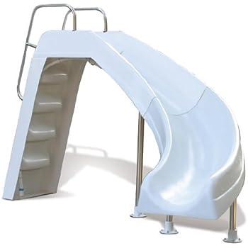 S.R. Smith 623-209-58110 AquaBlast Complete Right Curve Pool Slide, Taupe