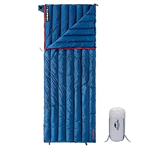 Naturehike 1.26lbs Ultralight Goose Down Sleeping Bag, 800Fill Power Compact Lightweight Envelope Sleeping Bag for Backpacking Camping Hiking, 95% Down Filling