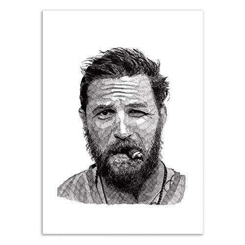 Art-Poster - Edition 50 ex. - Tom Hardy - Rik Reimert