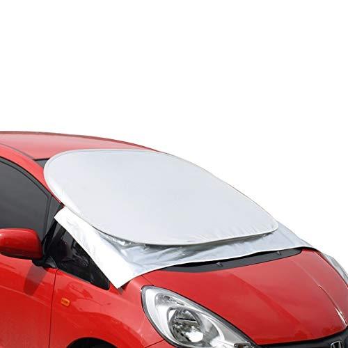 CSQ-Car koeling Parkeerplaats Zonnescherm, externe Aluminium Foil zonneklep beschermt tegen stof, regen en sneeuw in All Weather, geschikt for de meeste auto's Isolatie van ultraviolette stralen