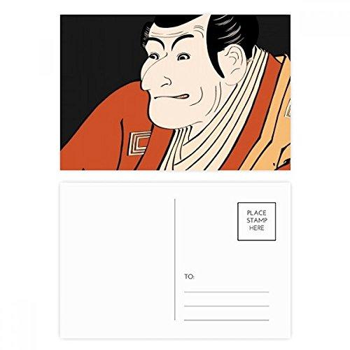DIYthinker Japanse Stijl Ukiyoe Man Kimono Postkaart Set Verjaardag Thanks Card Mailing Side 20 stks 5.7 inch x 3.8 inch Multi kleuren