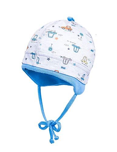 maximo Baby-Jungen Jerseymütze Mütze, Mehrfarbig (Graumeliert-Ocker-Autos 64), (Herstellergröße: 45)