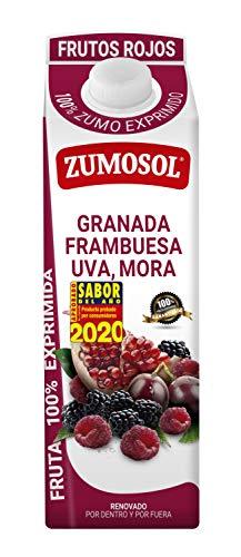 Zumosol Zumo Exprimido 100% de Frutos Rojos: Granada, Frambuesa, Uva y Mora, 1L, 1 unidad