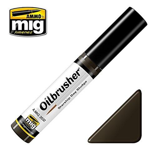 Ammo of Mig Oilbrusher Starship Sludge Bay Oil Paint Fine Brush Applicator #3532