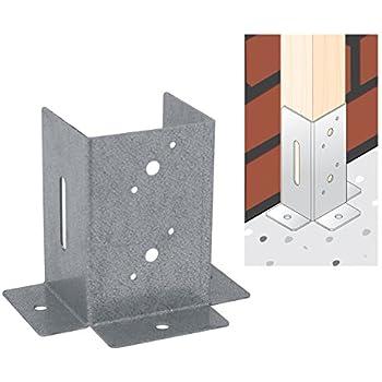 Domax M126733 - Pletina cuadrada base plana vertical 9 x 9 cm: Amazon.es: Bricolaje y herramientas