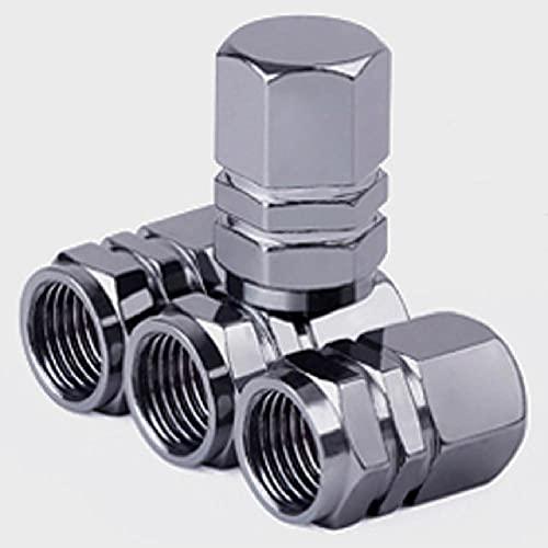 Tapas de válvula de neumático Hexagonal de Aluminio FBFG4pcs, Tapas de válvula de neumático Hexagonal para válvulas, Piezas de Estilo de Coche, Accesorios