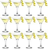 Epure Milano Collection 12 Piece Stemmed Martini Glass Set - For Drinking Martinis, Manhattans, Vodka, Gin, and Cocktails (Martini Glass (6 oz))
