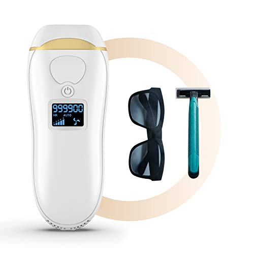 At-Home IPL Hair Removal for Women and Men, Permanent Painless Laser Hair Removal Device for Facial Whole Body, Upgraded to 999,900 Flashes