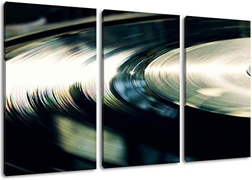Dark Record Music Dj Format Dreiteiliges Wandbild Auf Leinwand Bilder Home Decoration Frameless