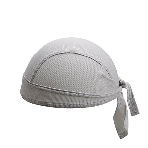 Gorro de ciclismo transpirable con diseño de calavera para ciclismo, para correr, para motocicleta, para hombres y mujeres (gris)