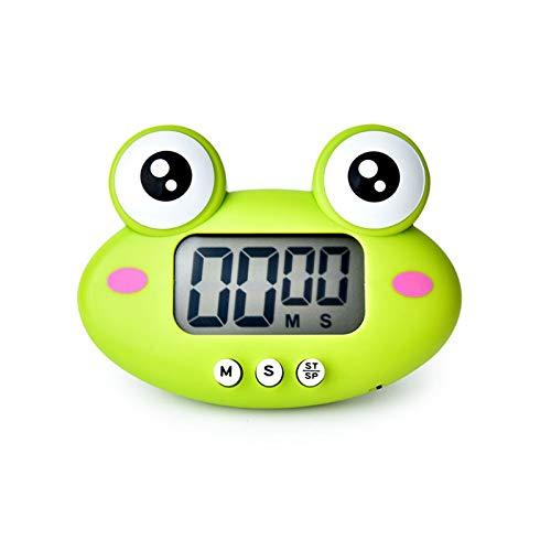 MAEKIJOY Digitaler Küchentimer Elektronisch Stoppuhr Timer mit Display, Magnet, große Ziffern Anzeige, 60 Minuten Frosch Countdown Eieruhr Kurzzeitmesser Küchenwecker Küchenuhr