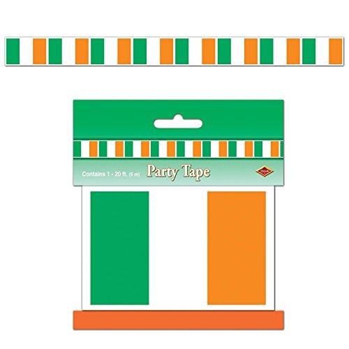McLaughlin's Irish Shop Irland Deko Wickelband/Party Band Irische Fahne. 6er Set