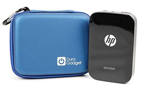 Custodia Rigida Per HP Sprocket Pocket | Polaroid ZIP w/ZINK Tecnologia Zero Ink Printing - Con Mini Moschettone + Tasca Interna - Blu - DURAGADGET