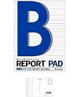 マルマン B5 レポートパッド メモリ入6mm罫 『 2 冊 』 + 画材屋ドットコム ポストカードA