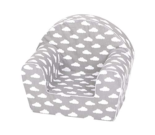 KNORRTOYS.COM Children's Armchair, Grey White Clouds