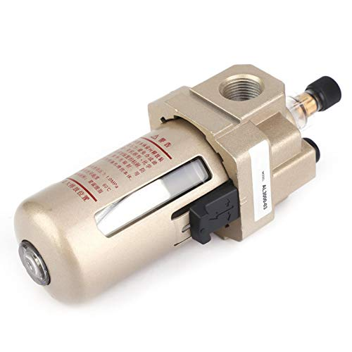 Filtro de drenaje de aire Separador de agua de aceite G3/8 Perilla ajustable precisa para tubo neumático para herramientas de aire para sistema neumático