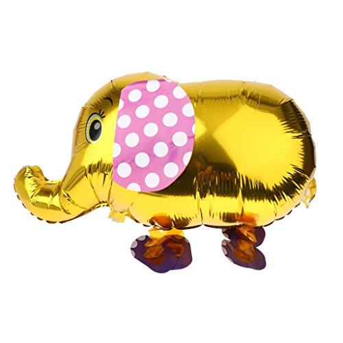 Eléphane Ballon en Papier D'alu Marcher Balloon Animaux Enfants Jouets - Or