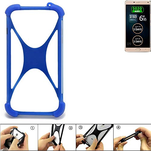 K-S-Trade® Handyhülle Für Allview P8 Energy Pro Silikon Schutz Hülle Cover Case Bumper Silikoncase TPU Softcase Schutzhülle Smartphone Stoßschutz, Blau (1x),