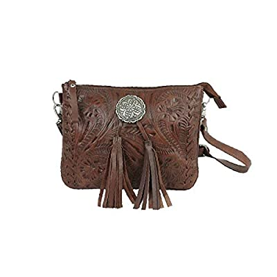 American West Lariats & Lace Multi-Compartment Crossbody Bag (Brown (7385789))