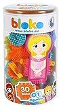 BLOKO – Tube de 30 BIoko avec 1 Figurine Surprise à Collectionner – Dès 12 Mois – Fabriqué en Europe – Jouet de Construction 1er âge – 503573