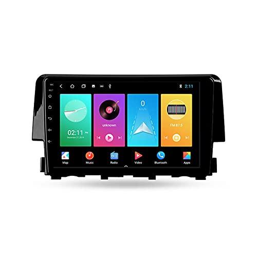 ADMLZQQ Autoradio Coche Bluetooth 2 DIN Android Radio De Coche 9'' Pantalla Táctil 5G WiFi Plug and Play Completo RCA SWC Soporte Carautoplay/GPS/Dab+/OBDII para Honda Civic 10 FC/2015-2020,M150s