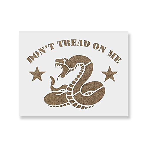 Don't Tread on Me Gadsden Flag Stencil - Reusable Stencils for Painting - Create DIY Don't Tread on Me Gadsden Flag Crafts and Decor