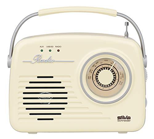 Silva-Schneider Mono 1965 - Radio para Maleta (Funciona con Red o Pilas) Beige