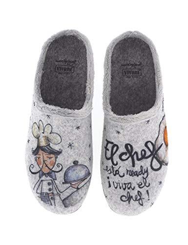 Zapatillas de casa para Hombre Fabricadas en España Vivant 202563 Gris - Color - Gris, Talla - 41