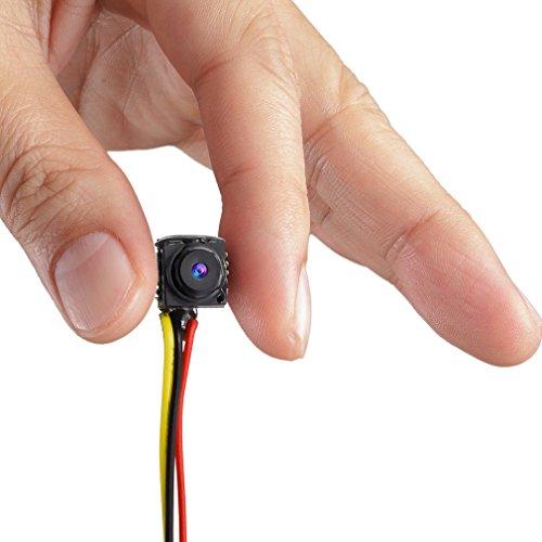 GEREE 800TVL NTSC/PAL Mini CCTV Monitor Vídeo Audio Agujero Cámara Oculta espía Micro cámara para vigilancia de Seguridad