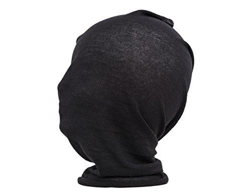 Shenky - Foulard multifonction - écharpe-tube/bonnet/foulard d'été/bandeau - noir/bleu marine - noir